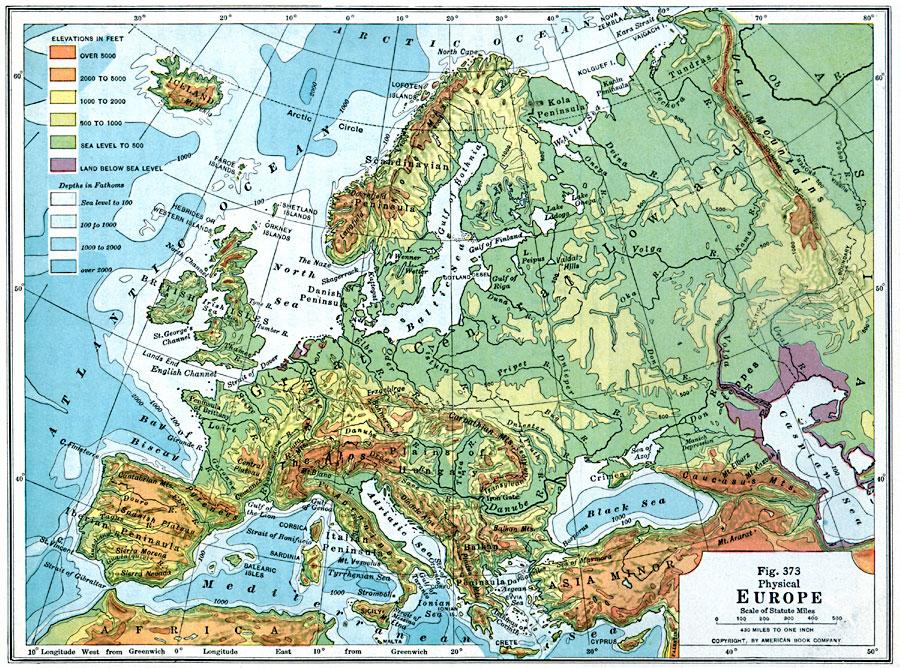 Harta Harta Formelor De Relief A Europei