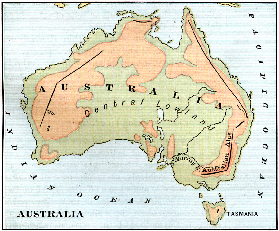 Australia Map Landforms.Landforms Of Australia