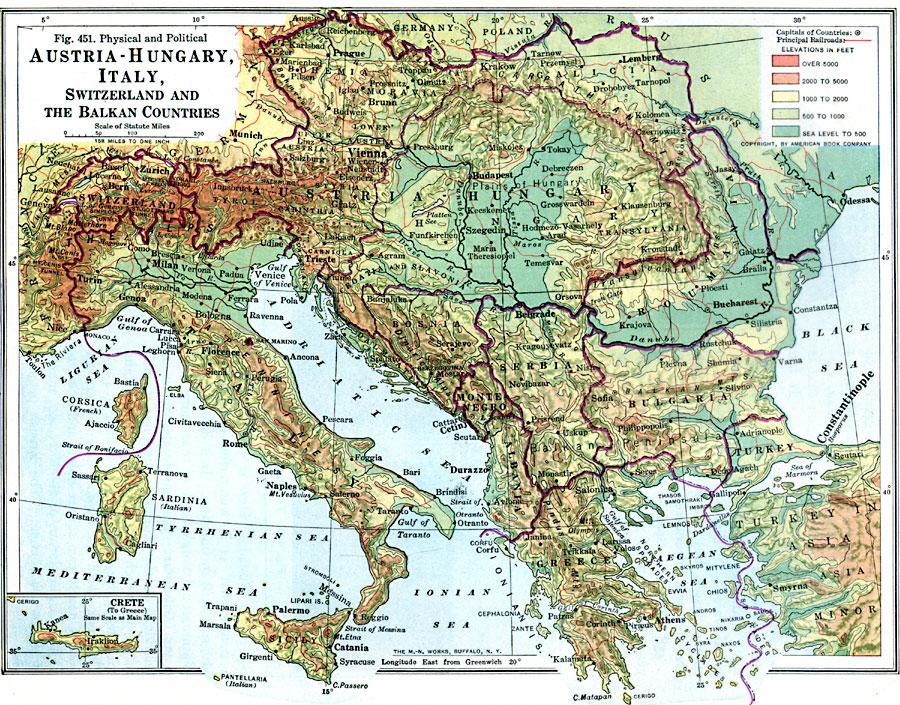 Southeastern Europe Map Southeastern Europe