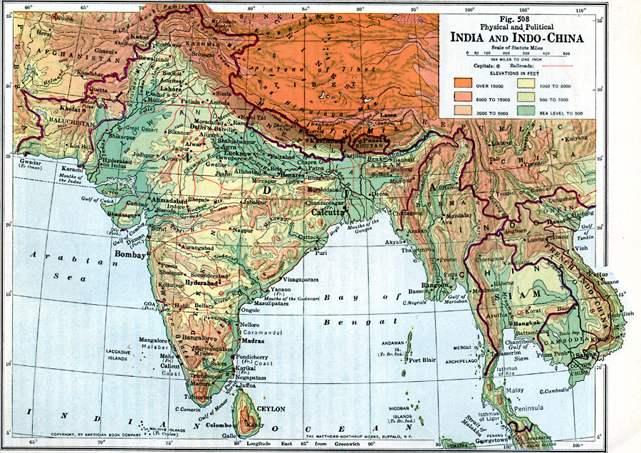 Map Of Physical Features South Asia 19
