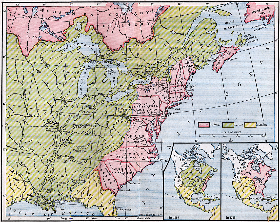 Maps Of North America Regional Maps - Map of us during 1763