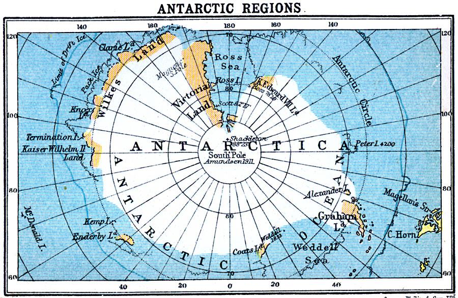 Antarctic Region Map Antarctic Regions