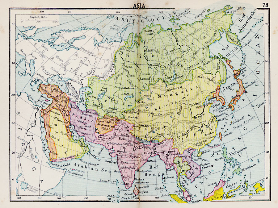 Complete Map Of Asia.Asia