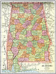 Maps Of United States Alabama - Map of alabama cities and towns