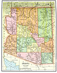 Maps Of United States Arizona - Map of arizona counties and cities