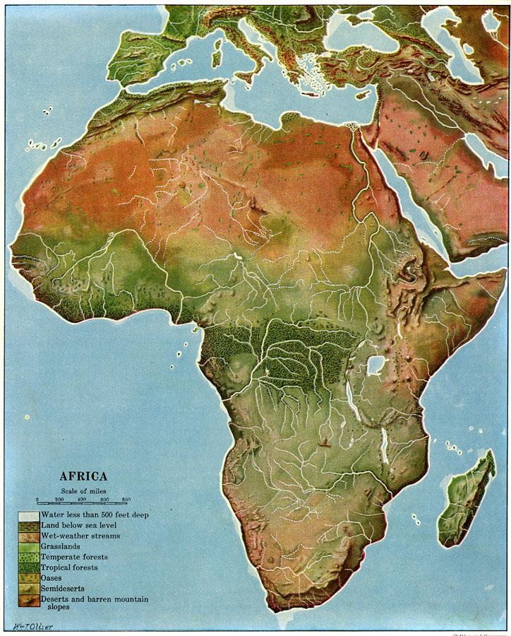Land Regions of Africa