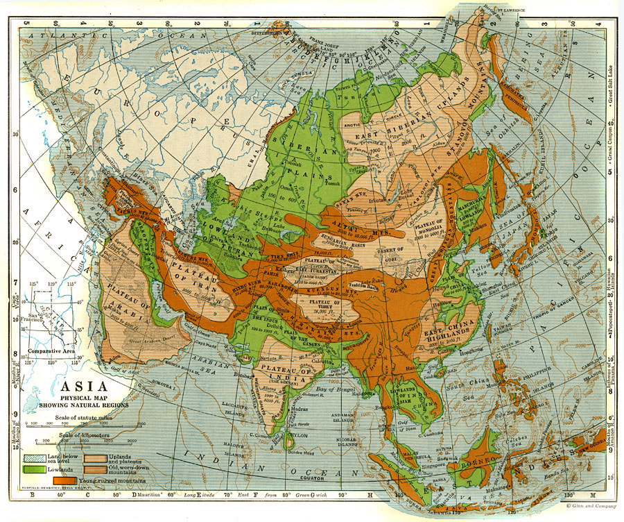 Natural Regions of Asia
