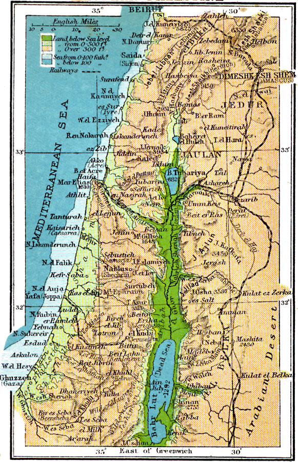 an analysis of the palestine and the jordan river and the mediterranean sea In practice, israel controls the entirety of historic palestine from the jordan river  to the mediterranean sea while it may not control gaza on the.