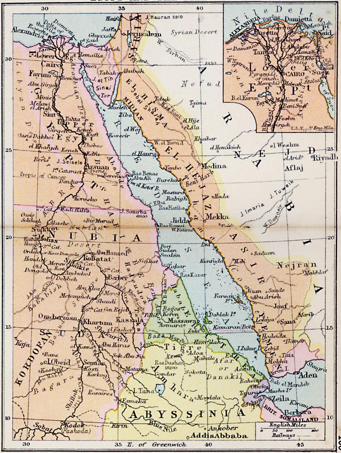 Jpg - Map of egypt 1920