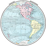 Map Of The Western Hemisphere.