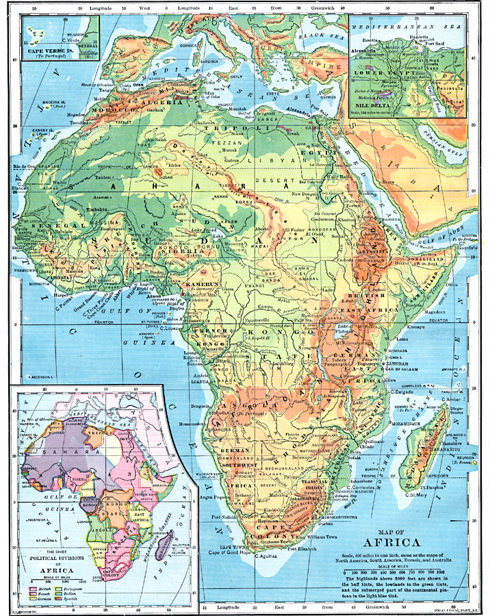 Geopolitical Map of Africa