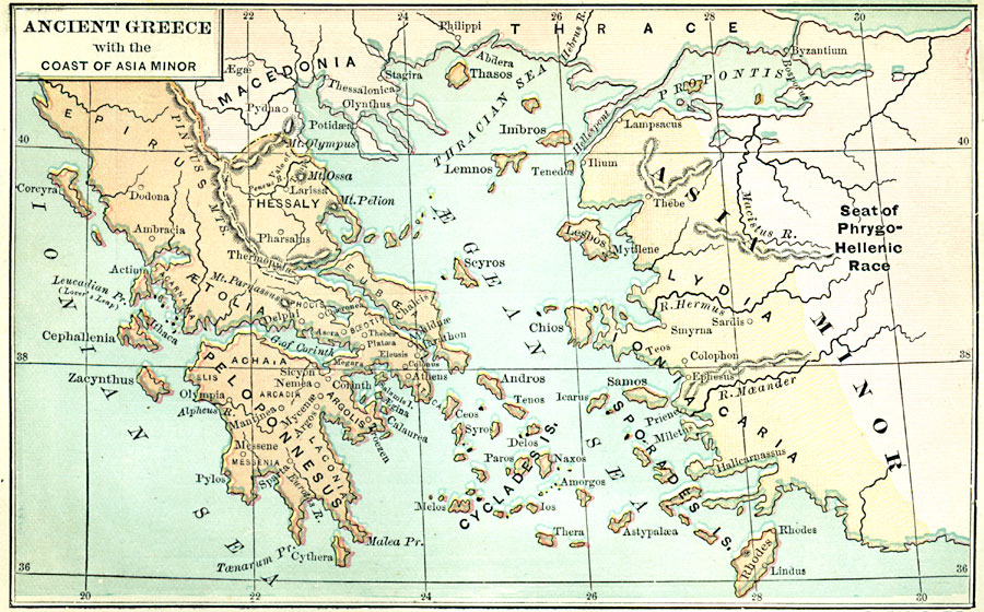 Ancient Greece And The Coast Of Asia Minor