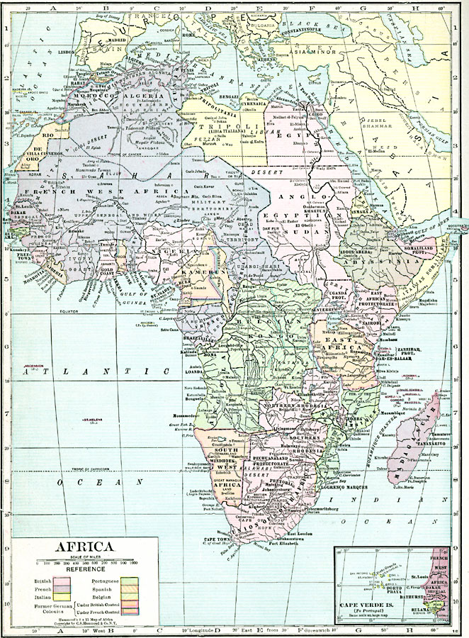 Post WWI Africa, 1920
