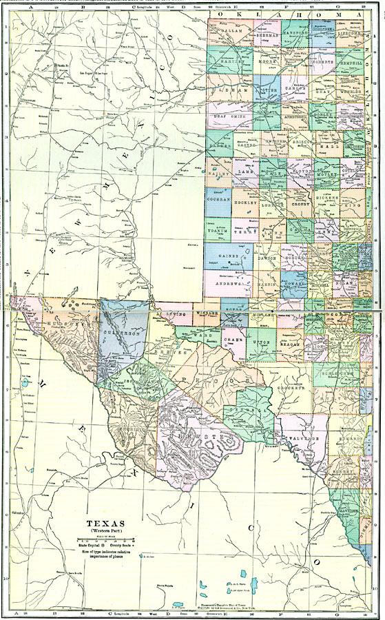 Map Of Western Texas.Western Texas