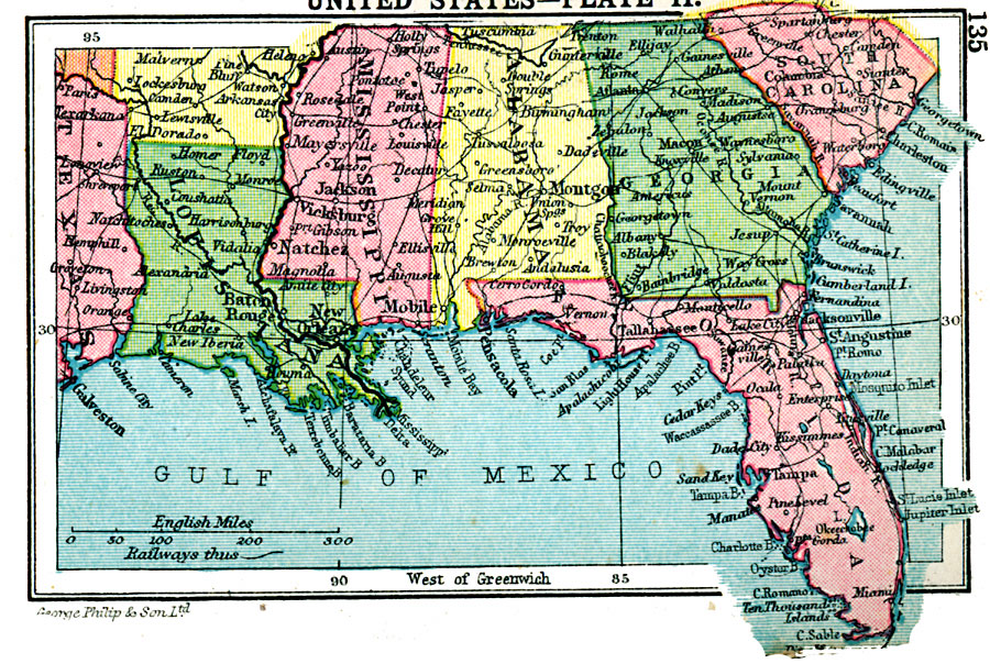 Map Of The Southern United States Southern United States Map Of The Southern United States