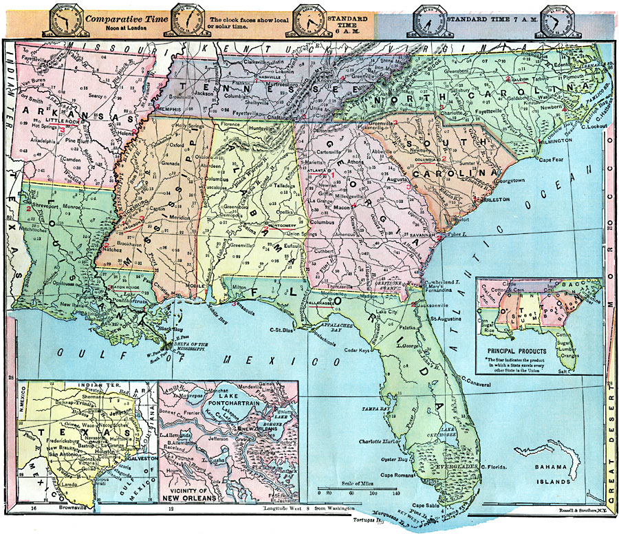 Map Of Southern States Of Usa - Southern-us-map-with-cities