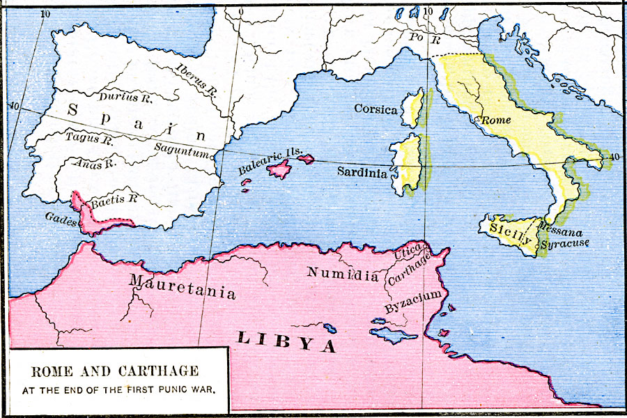 Rome and Carthage at the end of the first Punic War Carthage Italy Map on ancient rome po river map, carthage colonies, carthage war elephants, carthage territory, corsica map, carthage port, carthage people, carthage greece, carthage harbor, syracuse map, carthage today, alps mountains map, tiber river map, carthage tunisia, carthage trade, pyrenees mountains map, vesuvius mountains map, carthage soldier,
