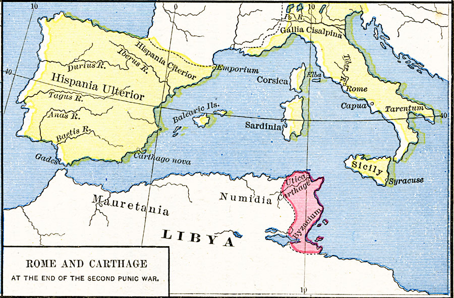 Rome and Carthage at the end of the Second Punic War