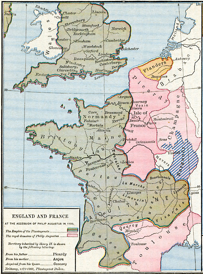 England and France at the accession of Philip Augustus