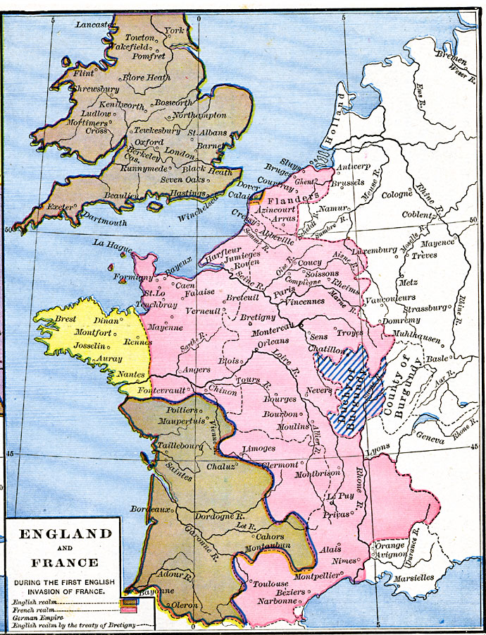 England And France Map