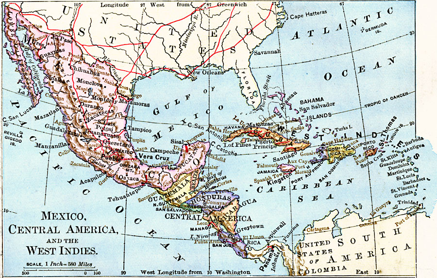 Mexico, Central America, and the West Indies