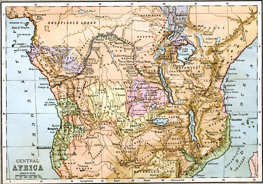 Map Of Africa Before Colonization.Pre Colonial Central Africa
