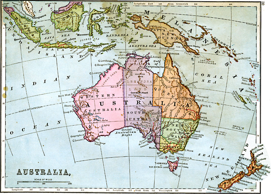 Jpg - Physical map of oceania
