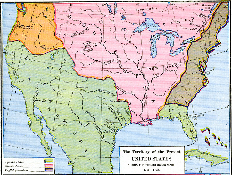 Jpg - United states map in french