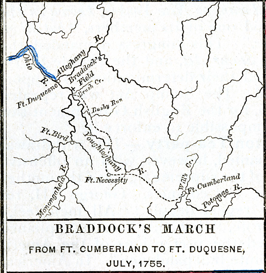 Braddock S March From Ft Cumberland To Ft Duquesne