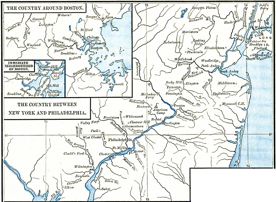 Areas Of The Northern American Revolutionary War