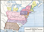 A Map Of The United States At The Close Of The American Revolutionary War 1783 Showing The Newly Formed States And Their Claims To