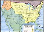 A Map Of The United States In 1803 Showing The Extent Of The Territory After The Louisiana Purchase From France
