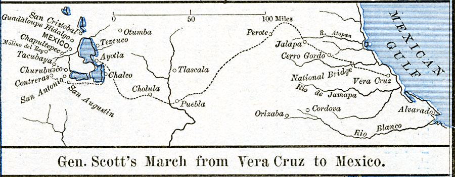 The Mexican War - Gen. Scott's March from Vera Cruz to Mexico on tenochtitlan mexico map, coacalco mexico map, tenayuca mexico map, el paso texas mexico map, nuevo laredo mexico map, valley of mexico map, tuxtepec mexico map, concepcion mexico map, san luis potosi mexico map, ixtapan de la sal mexico map, leon mexico map, saltillo mexico map, bonampak mexico map, mexico pyramids map, tepeaca mexico map, izapa mexico map, puebla mexico map, cantona mexico map, jalisco mexico map, san cristobal de las casas mexico map,