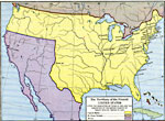 Maps Of United States Growth Of Nation - Area map of us 1845