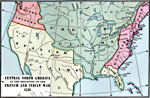 A Map Of Central North America Showing Territorial Claims At The Beginning Of The French And Indian War In 1755 The Map Shows The Oregon Country