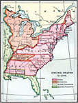 Maps Of United States Growth Of Nation - 1789 map of us