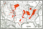 Coal Mining Regions Of The United States 1906 Coal Producing Regions Of The United States