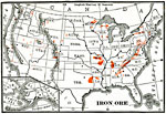 Maps Of United States Minerals - Us iron ore deposits map