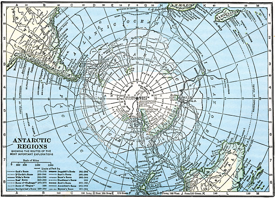 Antarctic Region Map Antarctic Regions Showing The