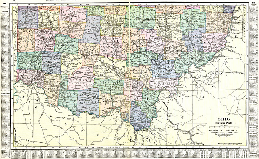 Jpg - Map of ohio with cities