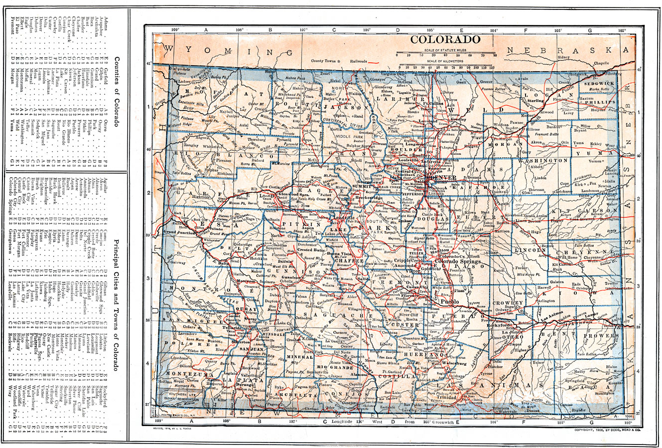 Maps Of United States Colorado - State map of colorado with cities