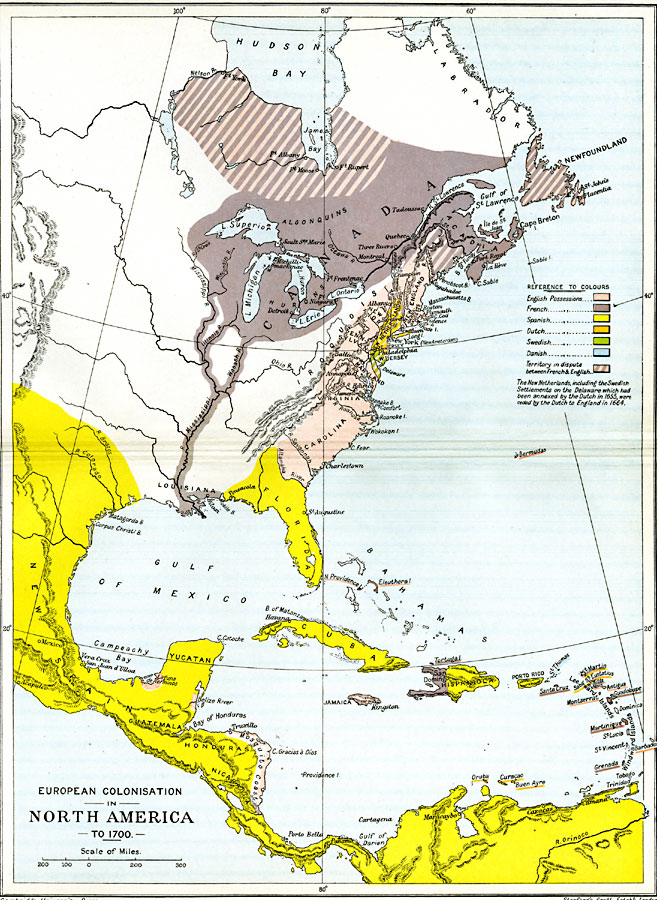 European Colonization in North America, 1500–1700