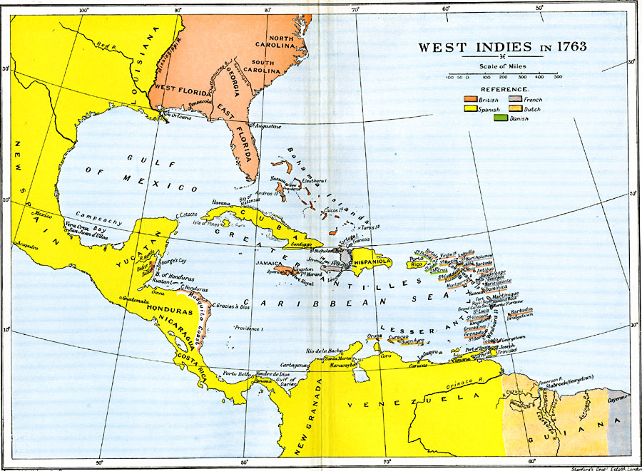 Westindies Images Reverse Search - West indies central america 1763