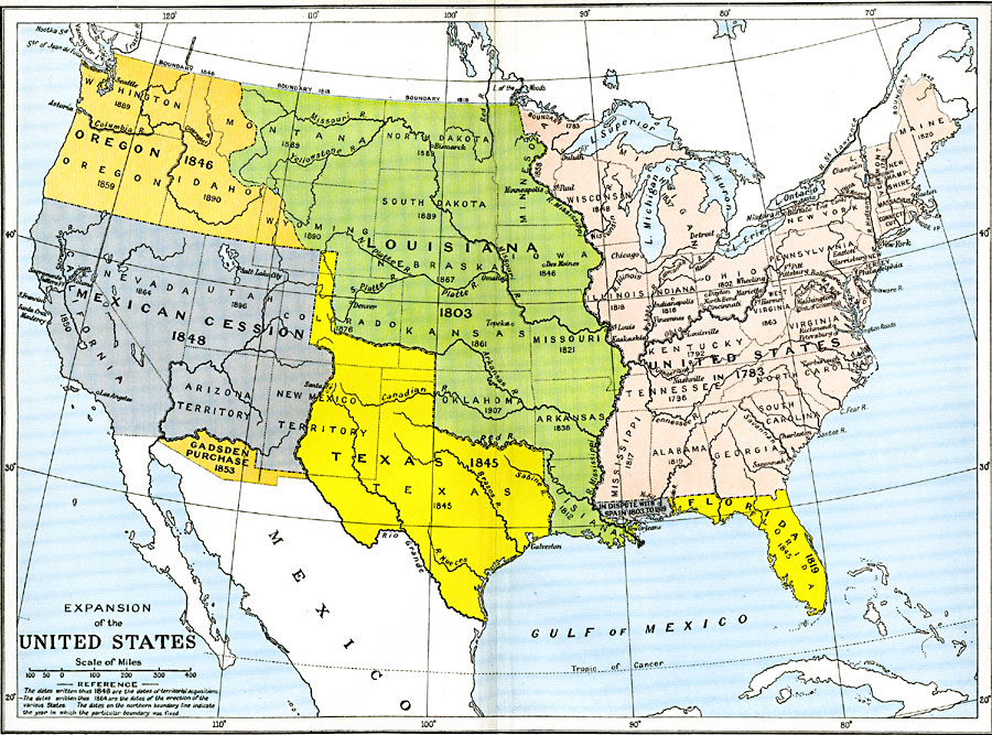 Find A Map Of The United States.Expansion Of The United States