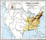 Maps Of United States Demographics - Us population density map 1870s