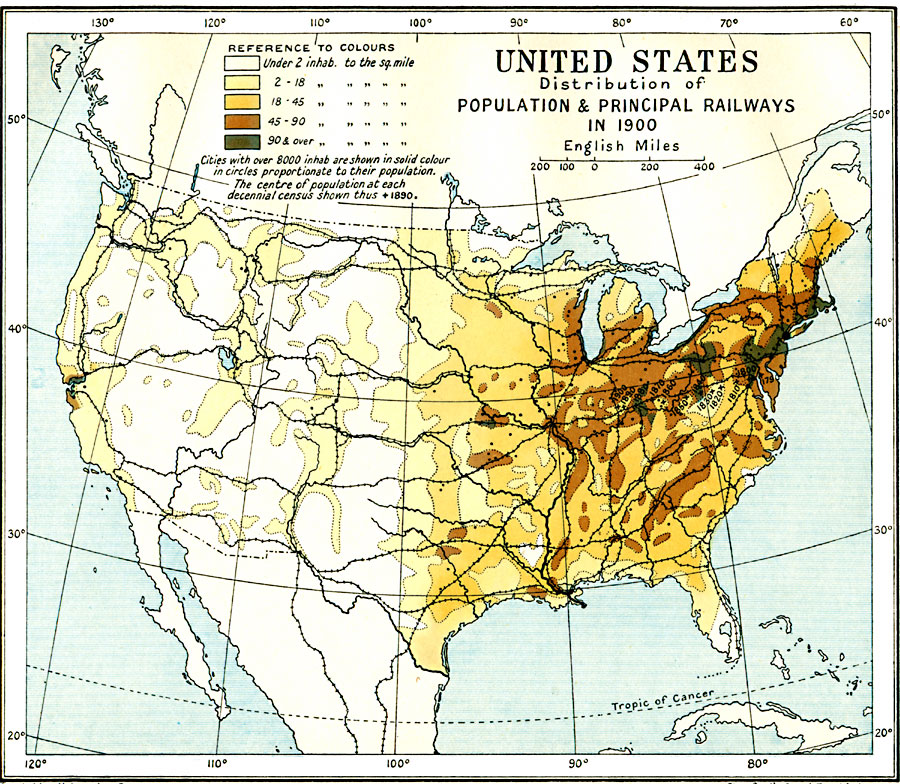 United States Population Density Students Britannica Kids MAP OF - Us map in 1900