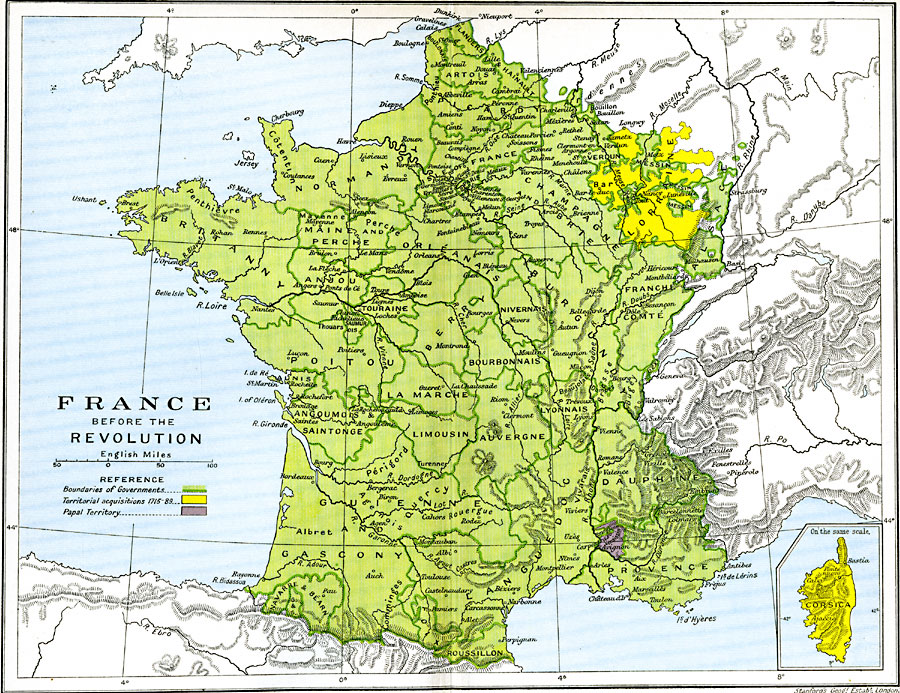 Borders Of France Map.France Before The Revolution