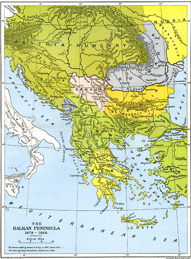 an overview of the balkan peninsula and its many physical features A relief map of the balkan peninsula is notable for its three main mountain ranges: the rhodope massif, the dinarids, and the pindus system, between which are the region's main agricultural areas these geographic features have had a great impact on the area's history.