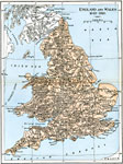 Map Of England With Counties And Major Cities.Europe United Kingdom