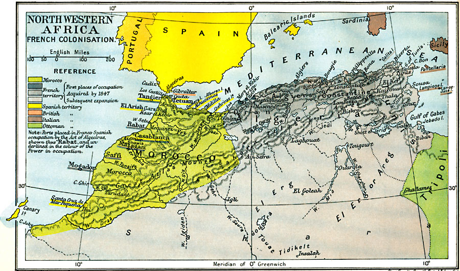 Colonization of North Western Africa